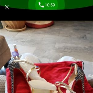 Authentic water python red bottoms shoe
